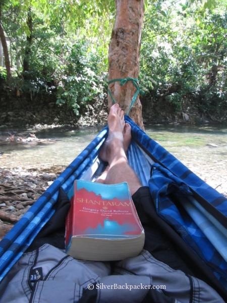 Enjoying a good read in the hammock by hammock republic