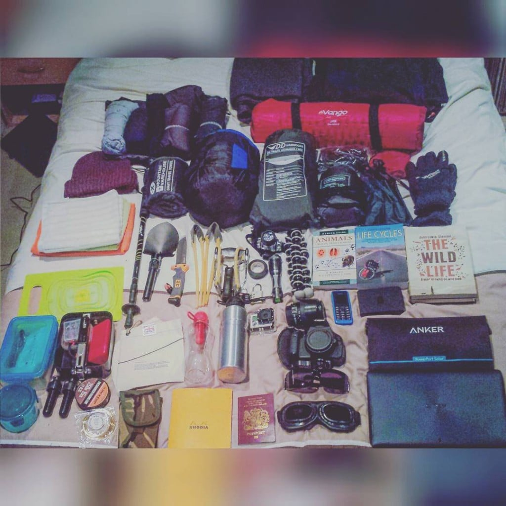 The Hopeful Vagabond gear for the Road to China