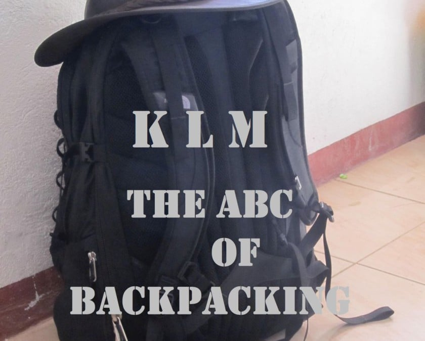 The ABC of Backpacking – KLM