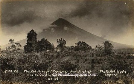mayon volcano in 1928