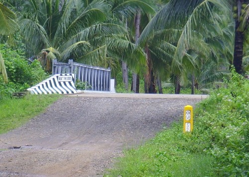 KM Post in Sibuyan Island, Philippines
