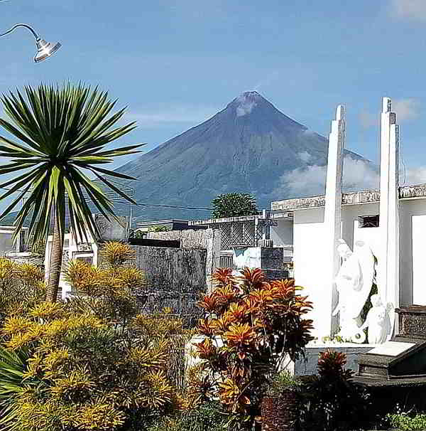 Mayon from Tabaco Cemetery, Bicol