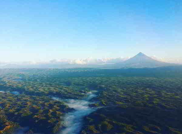landscape and volcano in the philippines bicol