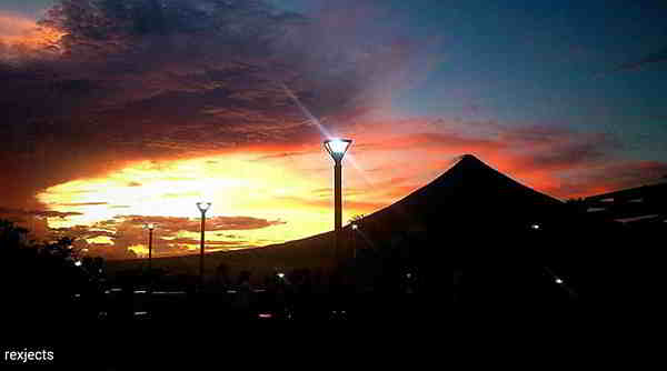sunset albay volcano bicol philippines