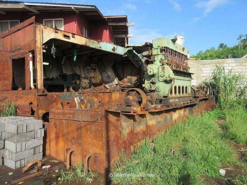 remnants of ship
