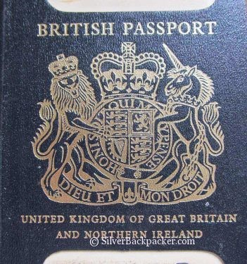 British Passport Old Style