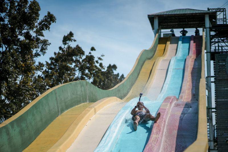 Giant Racing Slide, Crystal waves resort