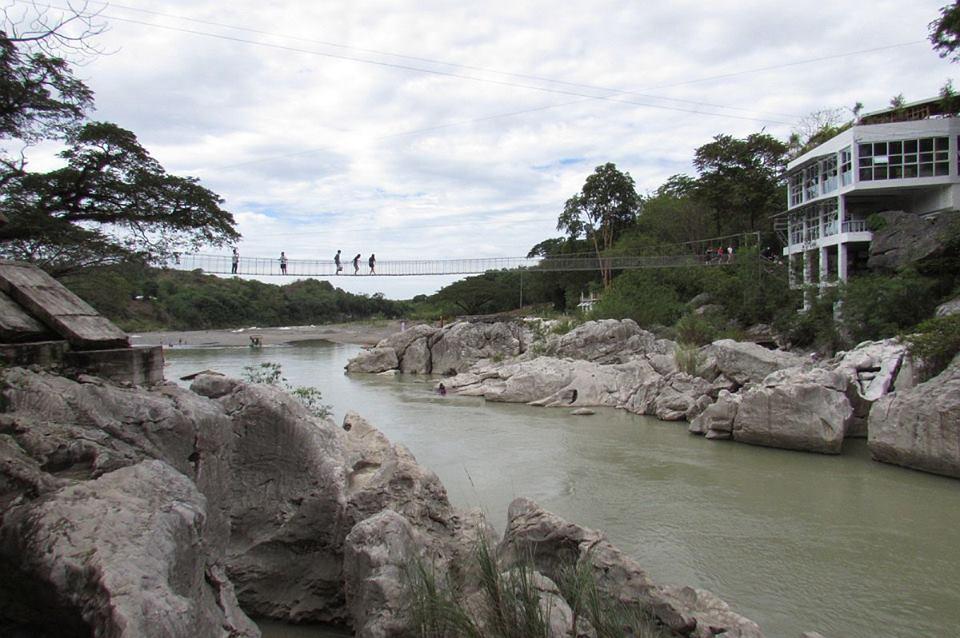Hanging Bridge at Minalungao National Park Nueva Ecija. summer getaways