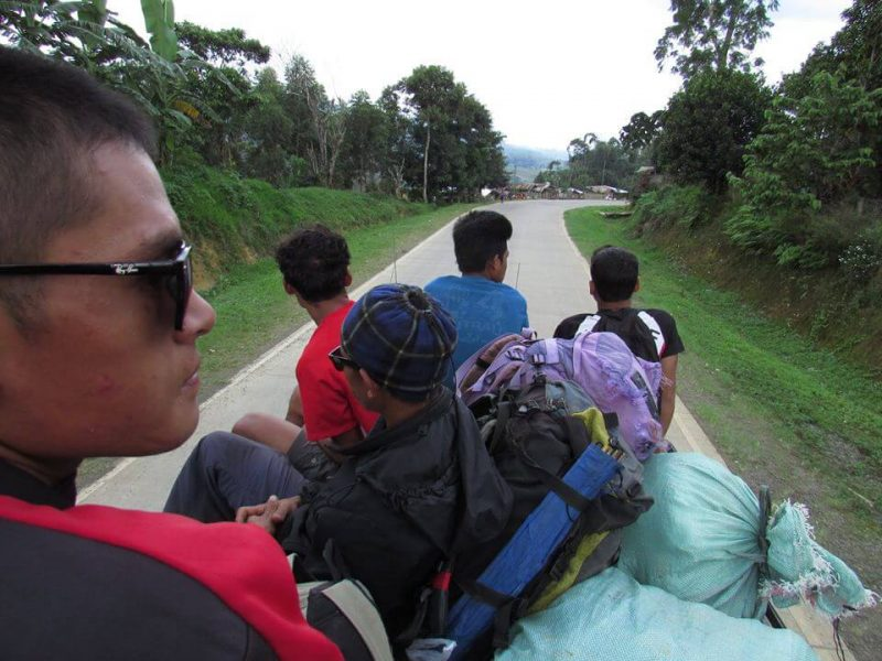Toploading a Jeepney in Mindanao