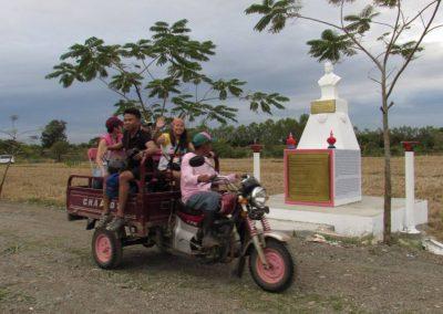riding around pmp paradise farm. rizal monument
