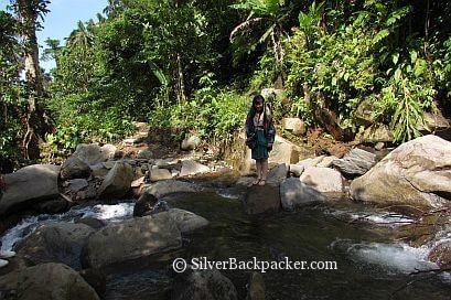 Celineism crossing the river Oras Falls