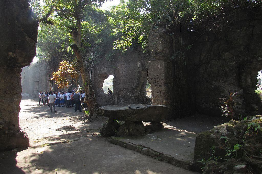 Volcanic Lava Rock Altar in Church of St. Lawrence, Tiwi Ruins