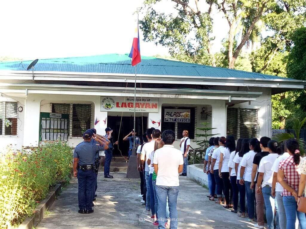 Flag Raising Ceremony at Lagayan, Abra
