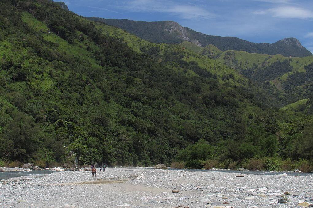 Maar-Arbis Falls, Lagayan, Abra upstream view Dry Riverbed