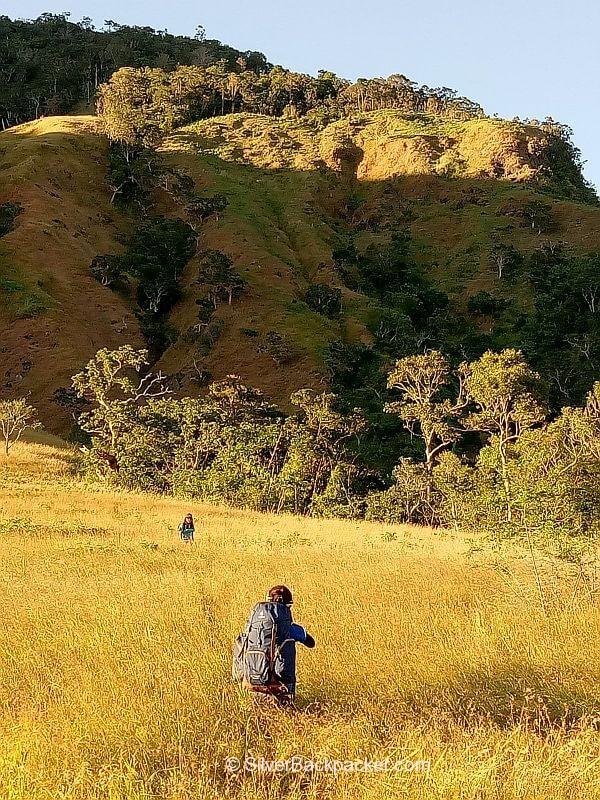 Sunset at Mt Bullagao campsite
