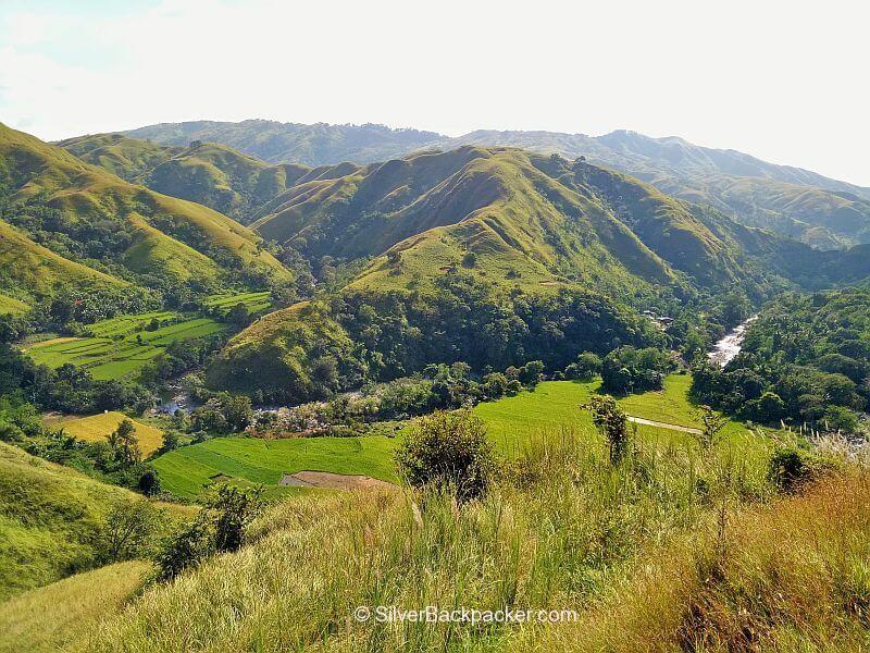 Brgy Apao in river valley below Mt Pisusok, Abra