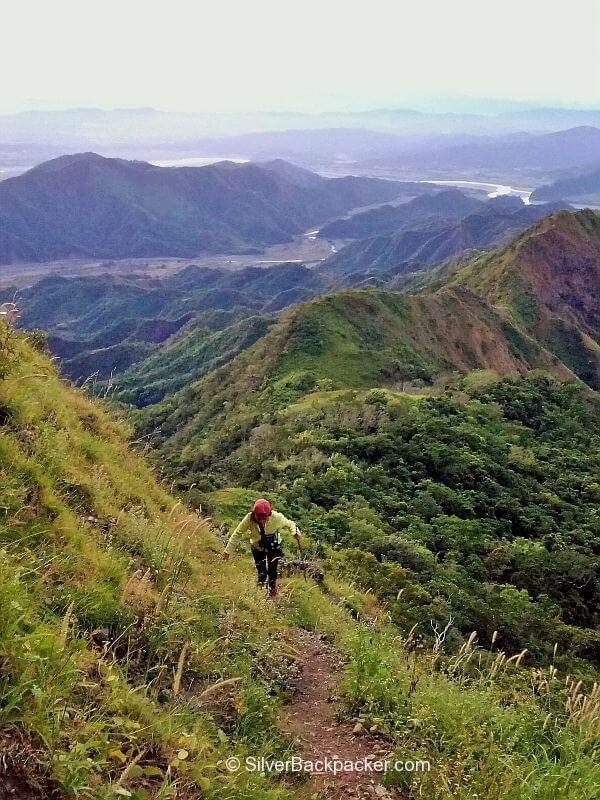 Climbing Mt Bullagao