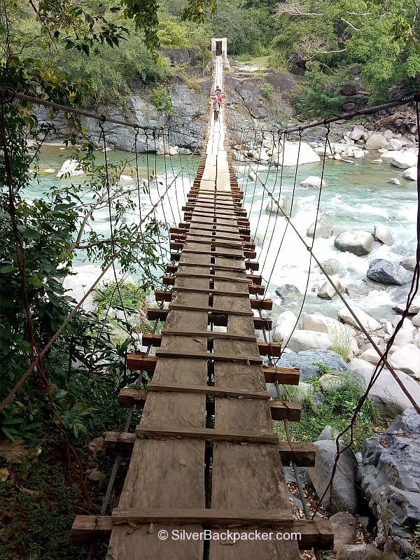 Hanging bridge on the way to Lacub. Mt Pisusok Traverse