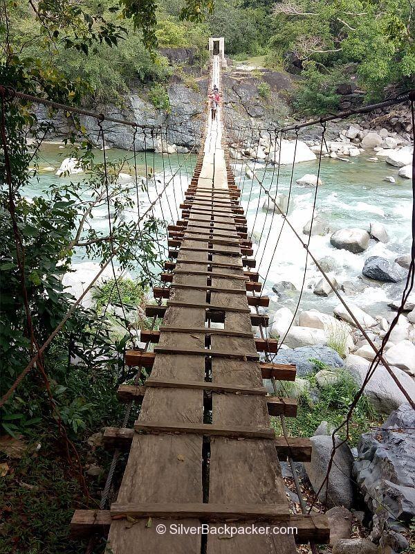 Hanging bridge on the way to Lacub. Mt Pisusok Traverse