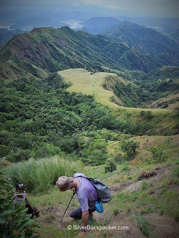 Mt Bullagao ,Abra, Philippines descending the steep trail