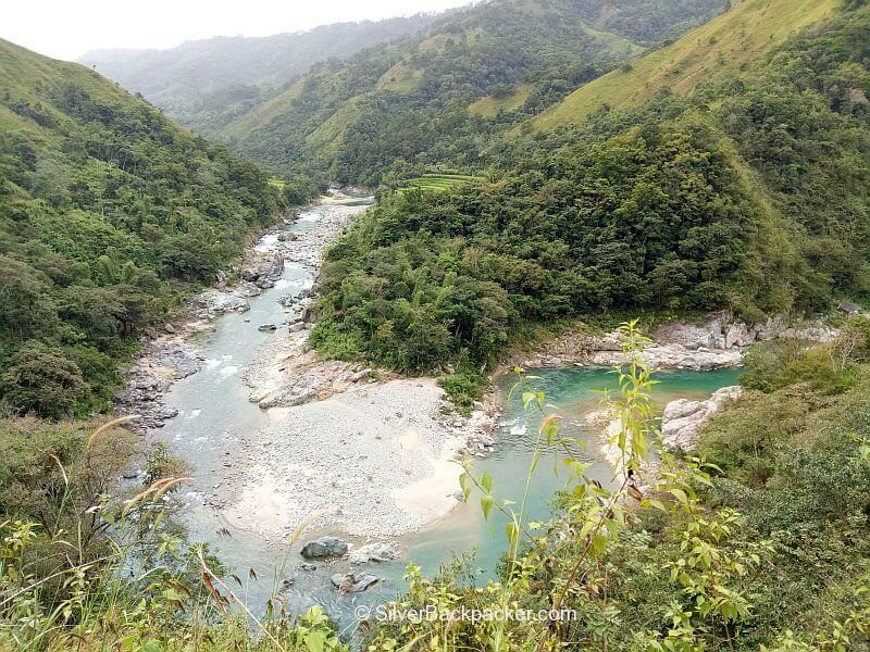River on way to Lacub from Mt Pisusok Abra