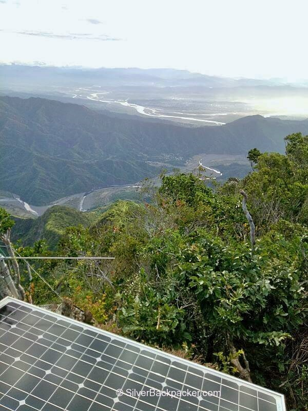 Solar Panel at Mt Bullagao Summit