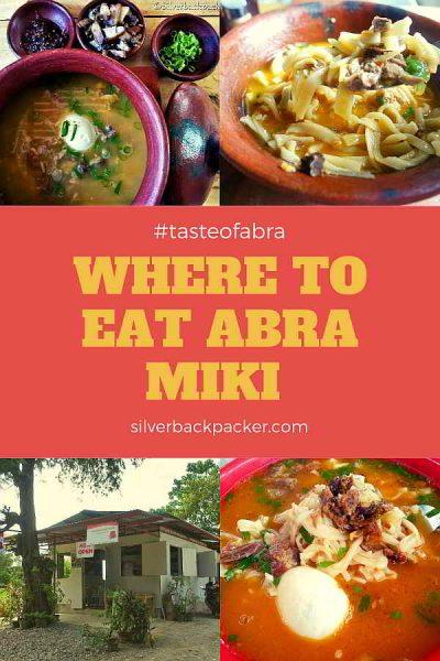 Where to Eat Abra Miki in Abra, Philippines