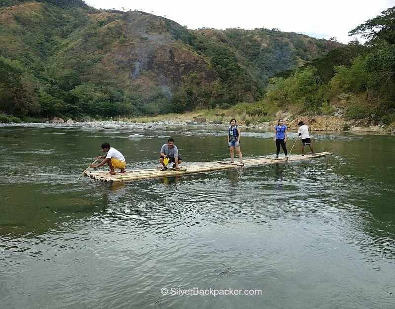 Raft across the river on way to Piwek Rock Formations, Tineg