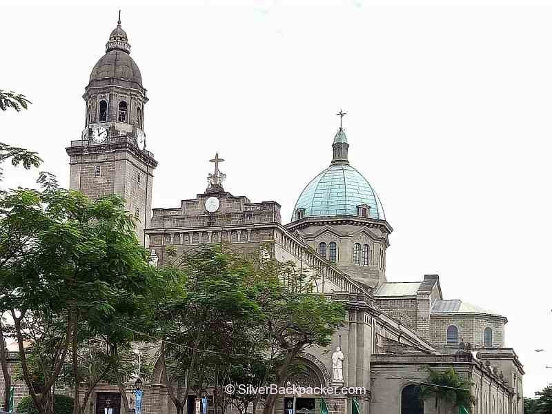 Manila Cathedral Dome and Cross. The original kilometre zero
