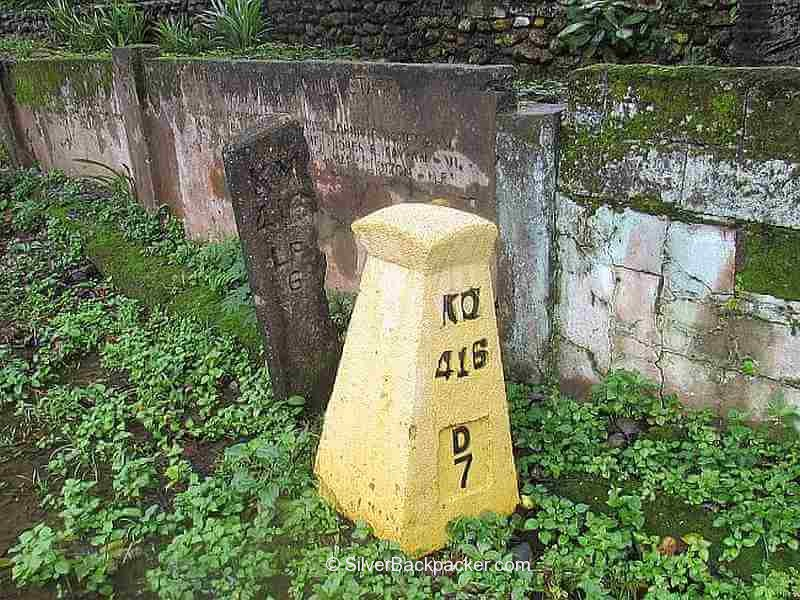 Stone and Cement KM Posts in San Gregorio, La Paz, Abra