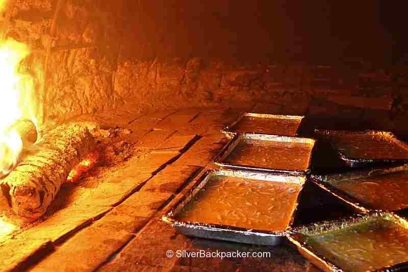 bibingka in wood fired oven