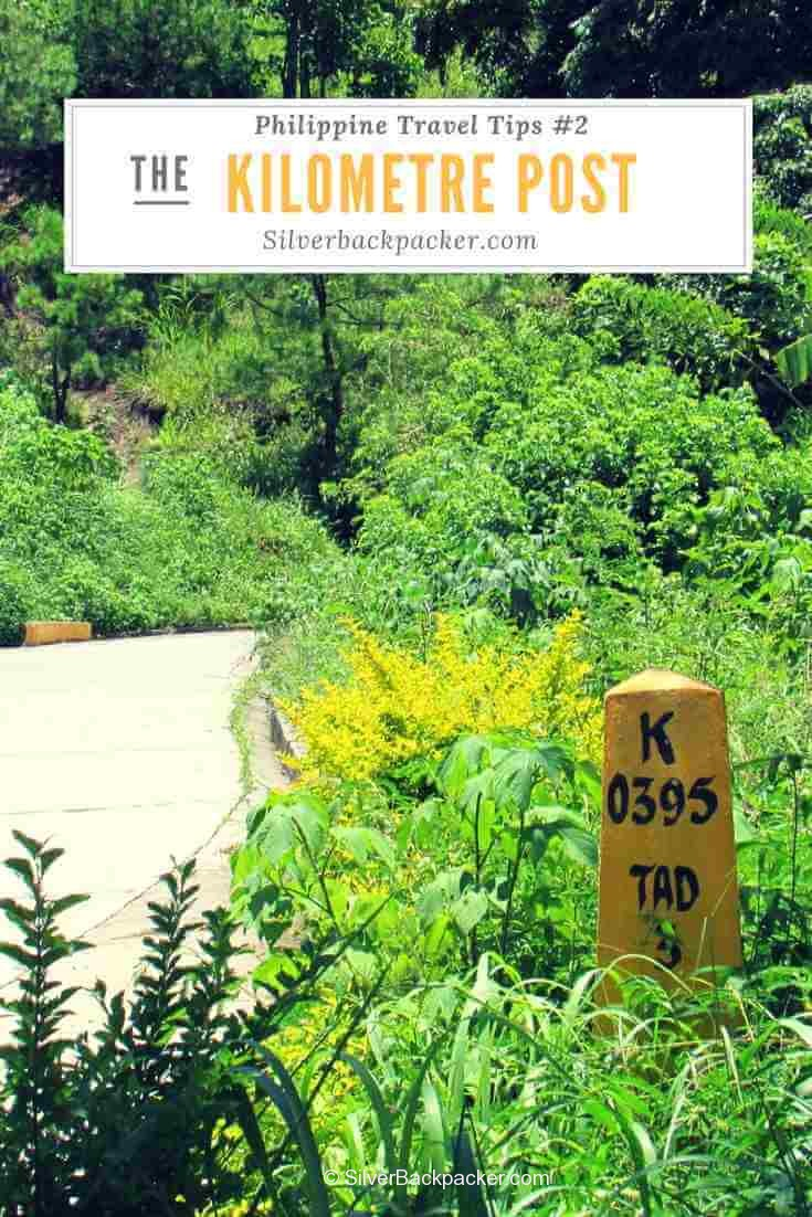philippine kilometre post in Mountain Province