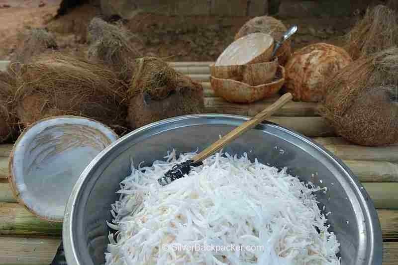 shredded coconut for bibingka