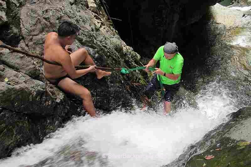 Do it While You're Young Climbing the 6th level of Budoy Falls in Cervantes. Ilocos Sur, Philippines 2016