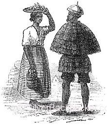 An Ilocano woman and man wearing katukong and annangá, circa 1820s - Teofilo Garcia