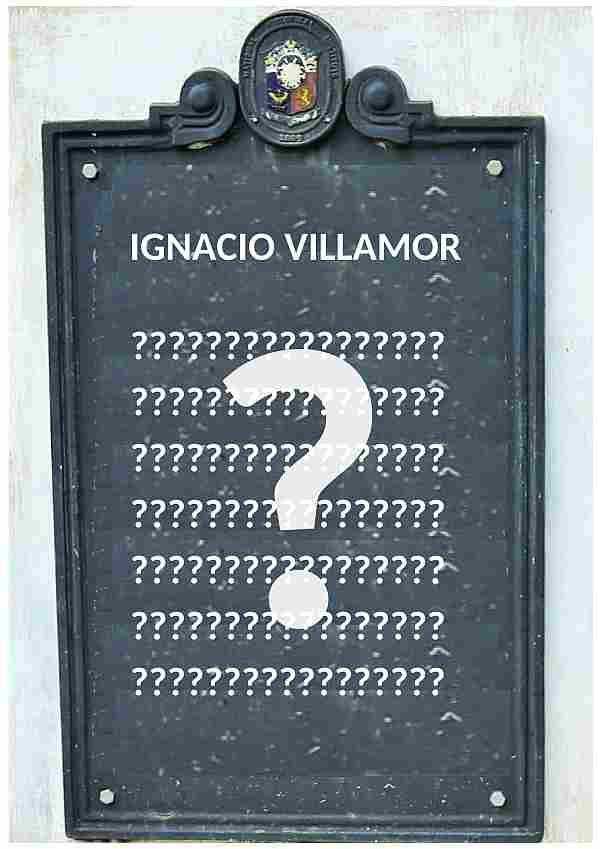 Ignacio Villamor marker.Lost. Where is it. Bangued, Abra
