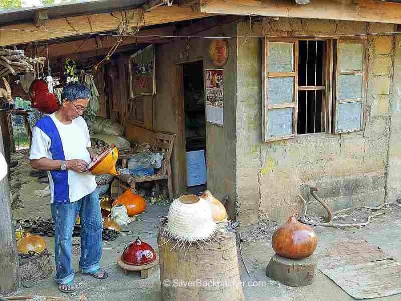Teofilo Garcia Tabungaw Hat Maker, San Quintin Home and workshop, Abra, Philippines