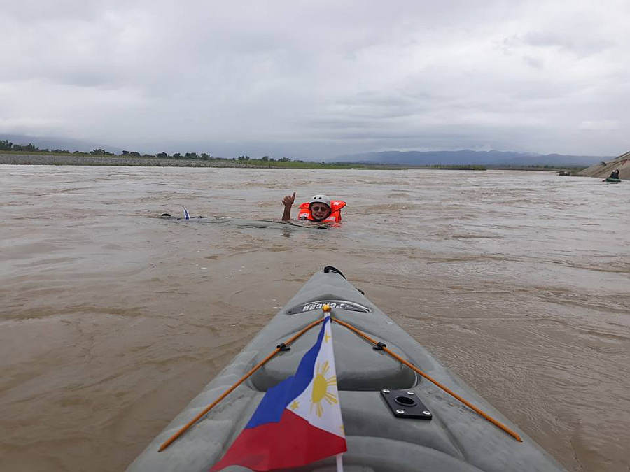 Abra River capsize exercise training Hull and Stern Dry Bag