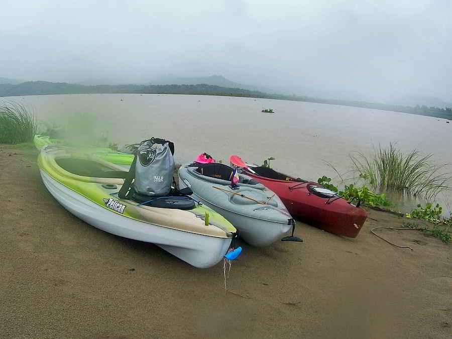 Hull & Stern Adventure bag on kayaks, abra river, Abra. Hull and Stern Dry Bag