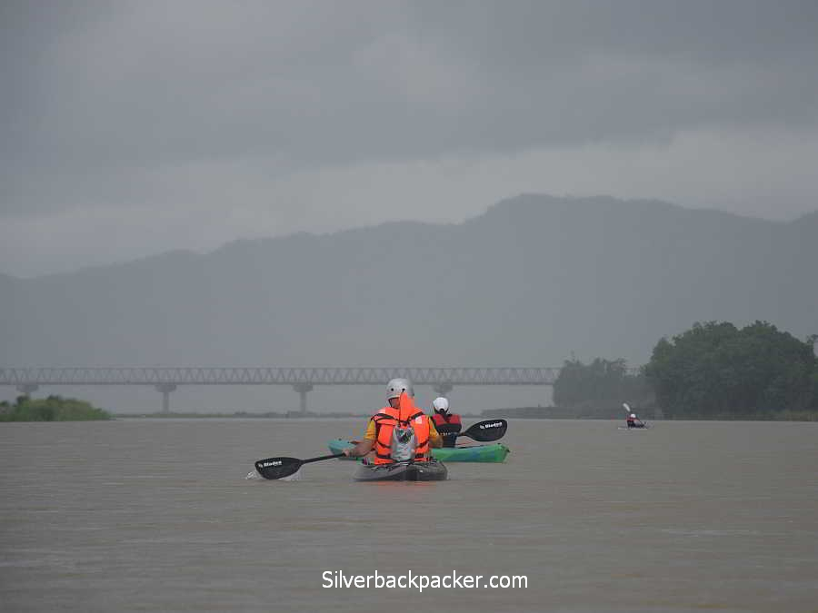 Hull and Stern adventure bag Kayaking Abra River near Calaba, Abra