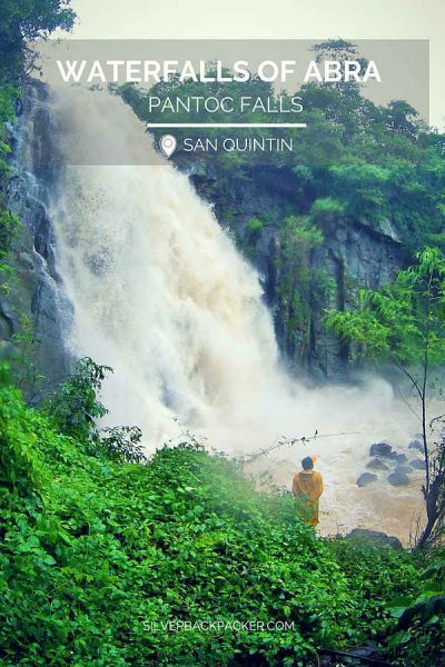 WATERFALLS OF ABRA Pantoc Falls in flood, San Quintin, Philippines