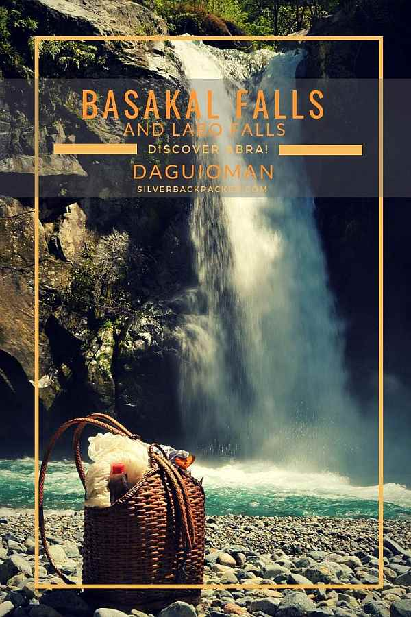 Basakal and Labo Falls, Daguioman, Abra, Philippines with native basket