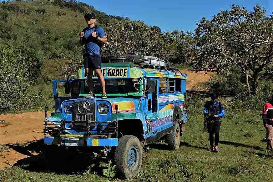 Biyahe Ni Drew standing on jeepney apao rolling hills Biyahe Ni Drew Abra