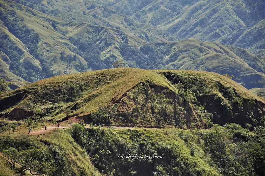 Drew Arellano, Biyahe Ni Drew and mountain bikers cycling through Apao Rolling Hills, Tineg, Abra