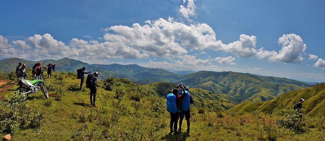 Hikers preparing to trek through Apao Rolling Hills to Mt Pisusok, Tineg, Abra