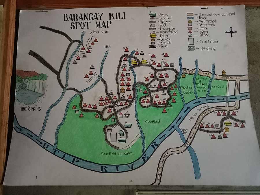Kili Spot Map, Tubo, Abra Philippines
