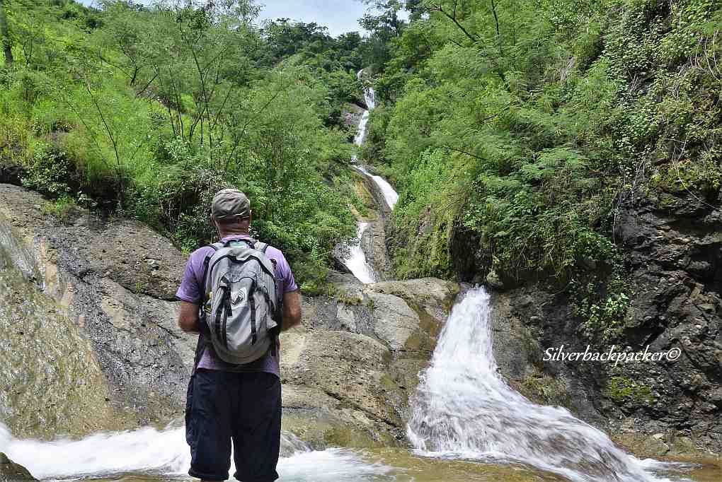 One of the Twin Sapilang Falls, Sagap, Bangued, Abra
