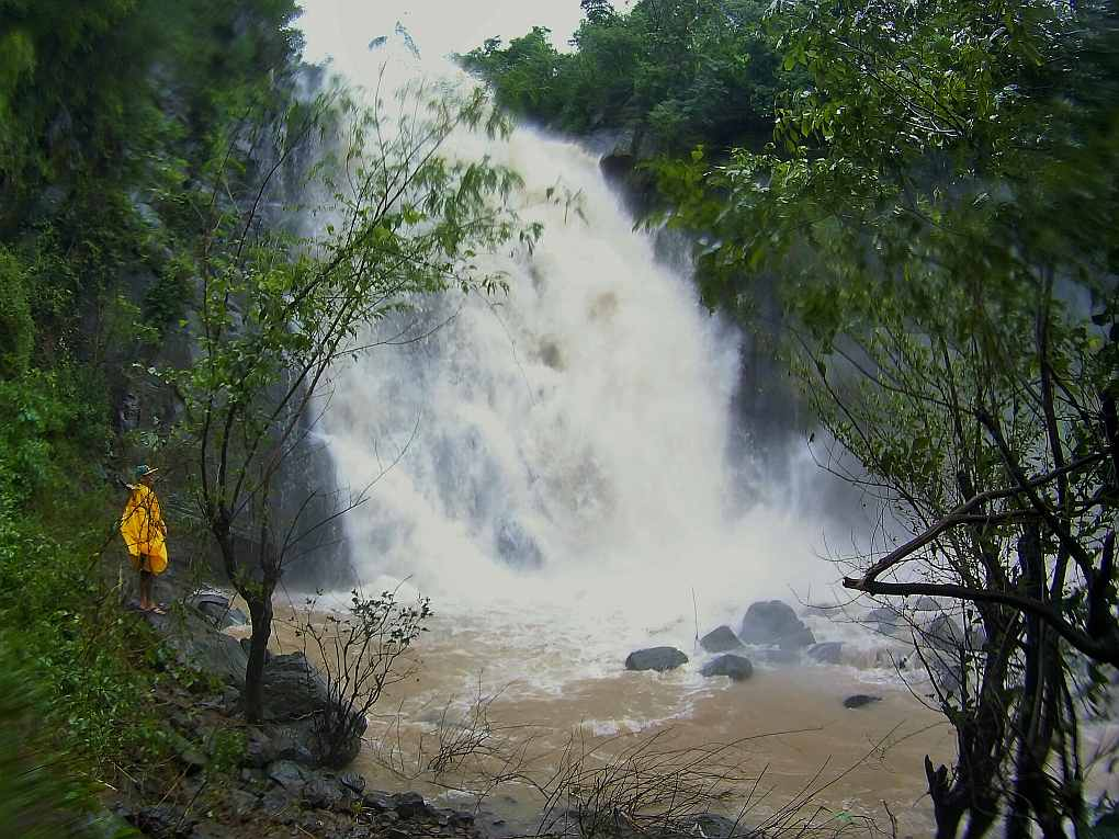 Pantoc Falls in full flood, san quintin, abra, Philippines
