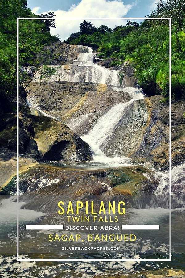 Sapilang Falls, Sagap, Abra , Philippines. Sapilang Twin Falls