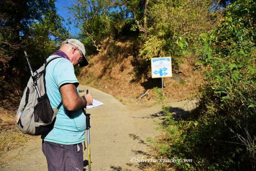 Making notes along the Liguis Circular Walk Trail